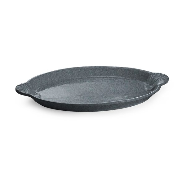 Tablecraft CW3030GR 20 inch x 14 inch Granite Cast Aluminum Oval Shell Platter