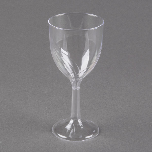WNA Comet CWSWN6 6 oz. Clear Plastic Classicware Wine Glass - 10/Pack
