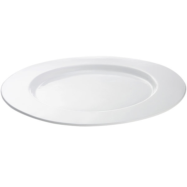 Tablecraft CW11004W 16 inch White Cast Aluminum Round Serving Plate