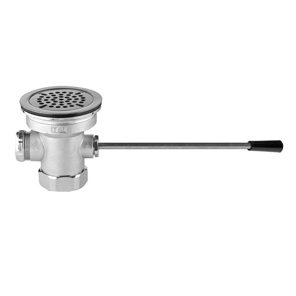T&S B-3972 Lever Waste Valve - 3 1/2 inch Sink Opening