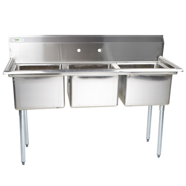 Commercial Sink Height : ... Commercial Sink without Drainboards - 17 inch x 17 inch x 12 inch