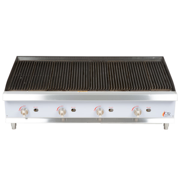Cooking Performance Group CBR48 48 inch Gas Radiant Charbroiler - 160,000 BTU