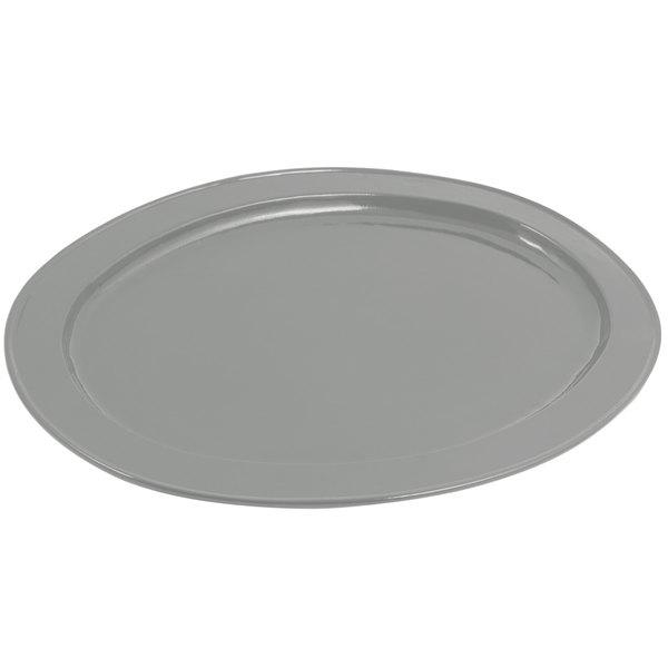 Bon Chef 2045 20 inch x 14 inch Sandstone Platinum Gray Cast Aluminum Oval Platter
