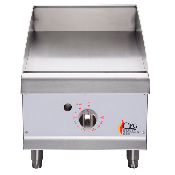 Cooking Performance Group G15T 15 inch Gas Countertop Griddle with Thermostatic Controls - 30,000 BTU