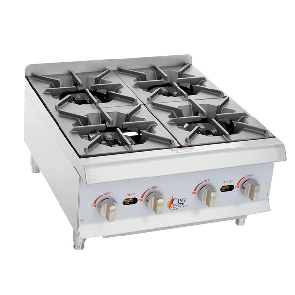 ... Performance Group HP424 4 Burner Gas Countertop Hot Plate - 88,000 BTU