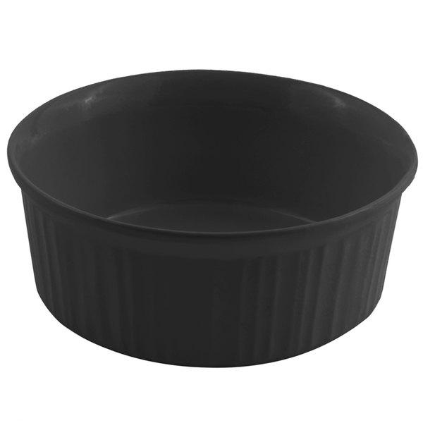 Bon Chef 5053 1.5 Qt. Sandstone Black Speckled Cast Aluminum Casserole Dish