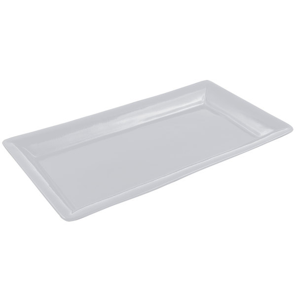 Bon Chef 5057 19 inch x 10 inch Pewter-Glo Cast Aluminum Display Pan