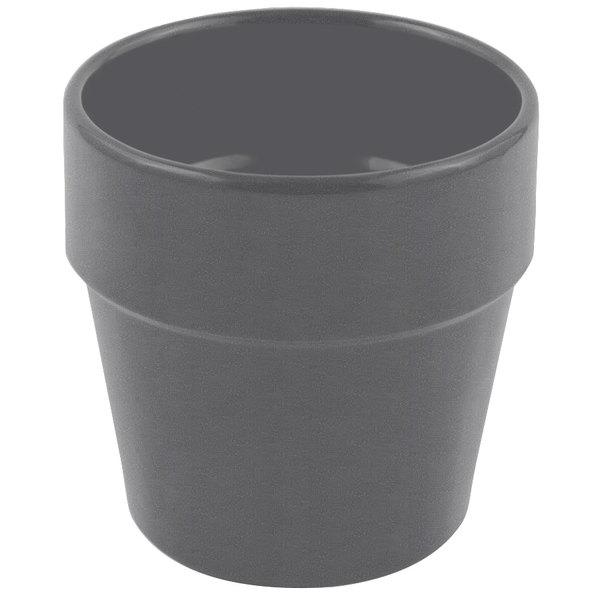 Bon Chef 9013 2 Qt. Sandstone Smoke Gray Cast Aluminum Salad Dressing Pot