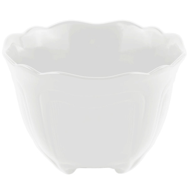 Bon Chef 9060 1.5 Qt. Sandstone White Cast Aluminum Garnish Bowl