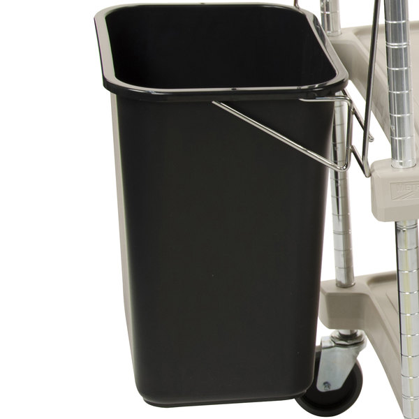 Metro MYWB1 Wastebasket with Holder for myCart MY1627 Carts