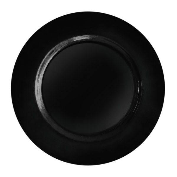 The Jay Companies 13 inch Round Black Polypropylene Charger Plate