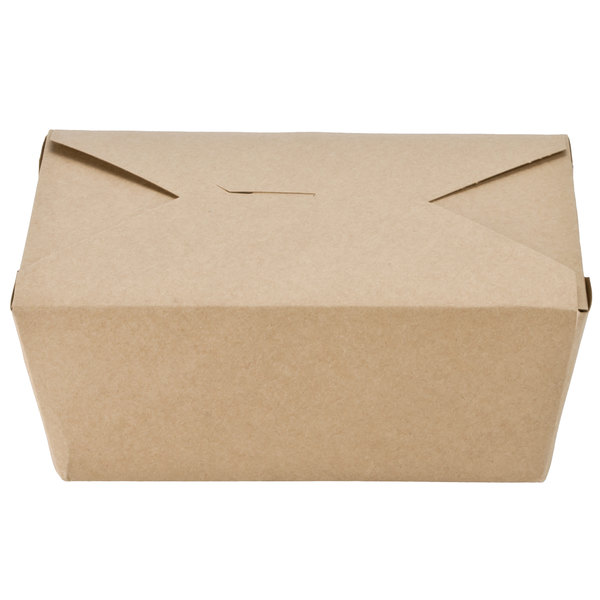 Southern Champion 764 8 inch x 6 inch x 4 inch ChampPak Retro Kraft Paper #4 Take-Out Container - 160/Case