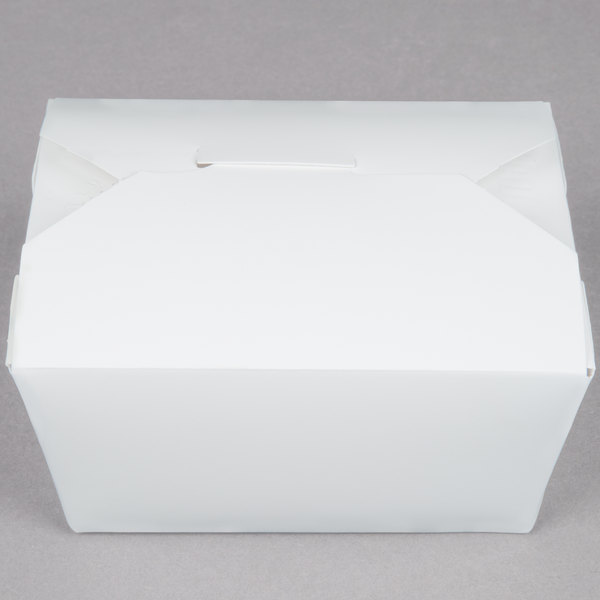 Southern Champion 771 5 inch x 4 inch x 3 inch ChampPak Retro White Paper #1 Take-Out Container - 450/Case