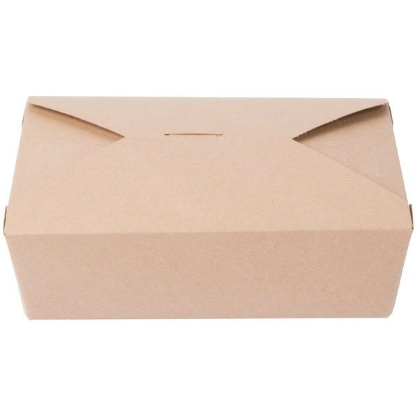 Southern Champion 763 8 inch x 6 inch x 3 inch ChampPak Retro Kraft Paper #3 Take-Out Container - 200/Case