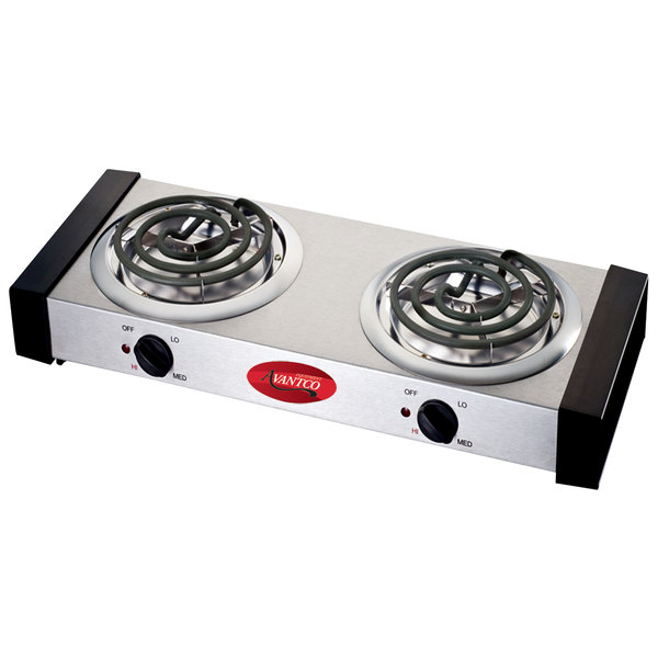 APW Wyott CP-2A Champion Double Open Burner Portable Electric Hot ...
