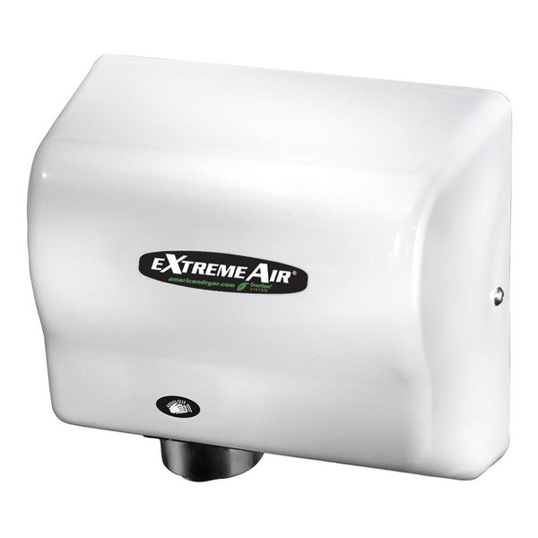American Dryer GXT9 ExtremeAir Automatic Hand Dryer with White ABS Cover - 100-240V, 1500W