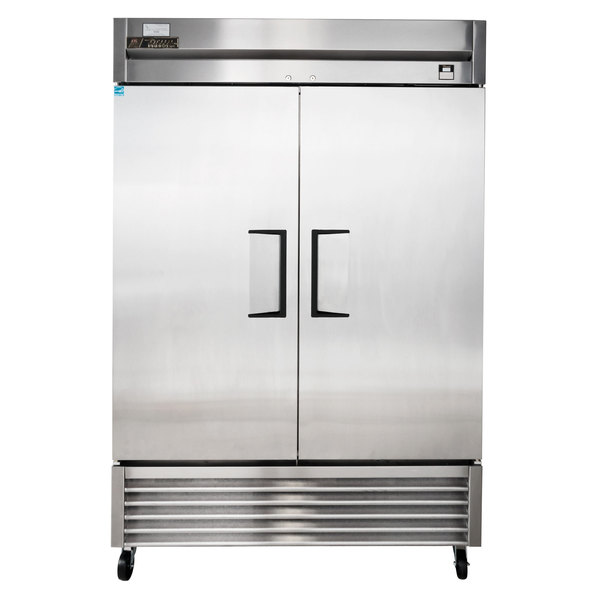 True TS-49F 54 inch Stainless Steel Two Section Solid Door Reach-In Freezer - 42.1 cu. ft.