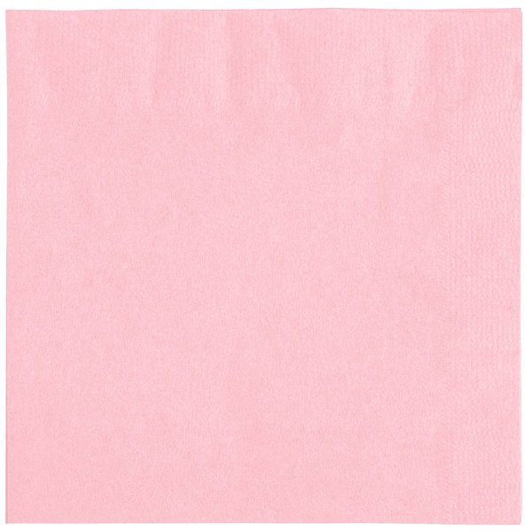 Choice 10 inch x 10 inch Pink 2-Ply Beverage / Cocktail Napkins - 250 / Pack