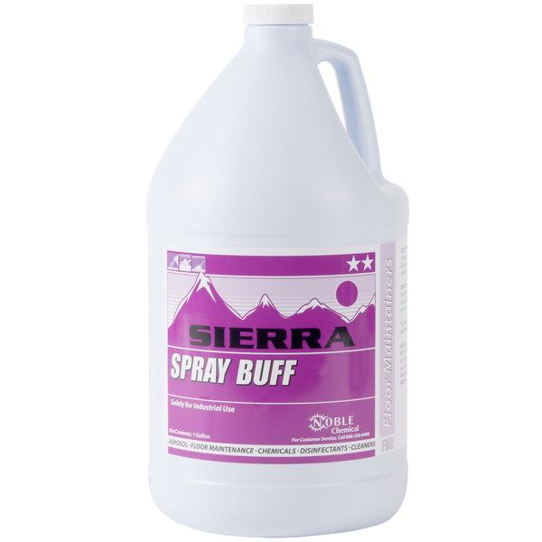 Sierra by Noble Chemical 1 Gallon Spray Buff Restorer Floor Finish - 4/Case