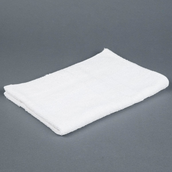 Lavex Lodging Hotel Bath Mat - 20 inch x 30 inch 100% Open End Cotton 6 lb. - 12 / Pack