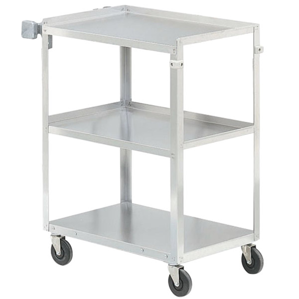 Vollrath 97125 Stainless Steel 3 Shelf Utility Cart - 27 1/2 inch x 15 1/2 inch x 32 5/8 inch