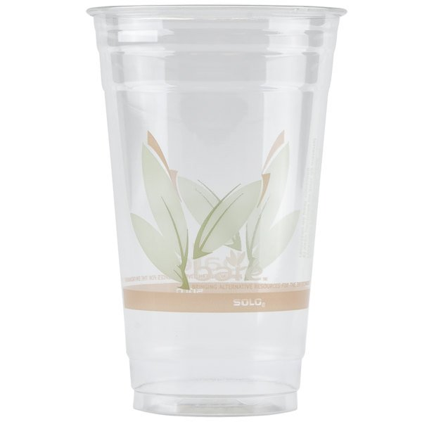 Dart Solo RTD24BARE Bare Eco-Forward 24 oz. RPET Cold Cup - 600/Case