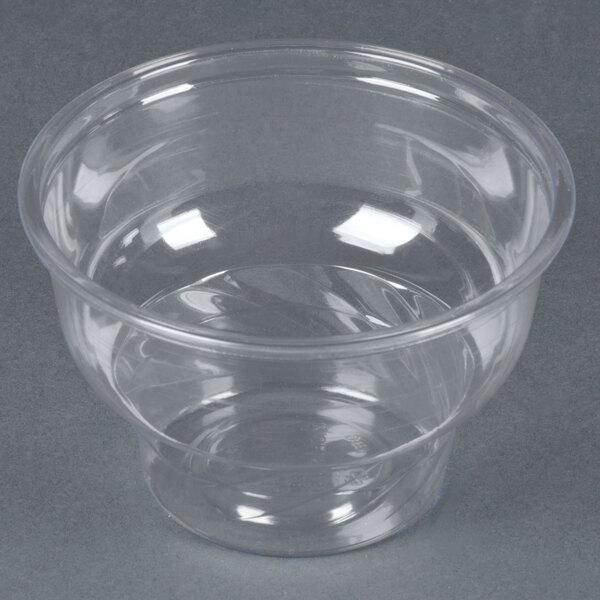 8 oz. Clear PET Sundae Cup - 1000 / Case