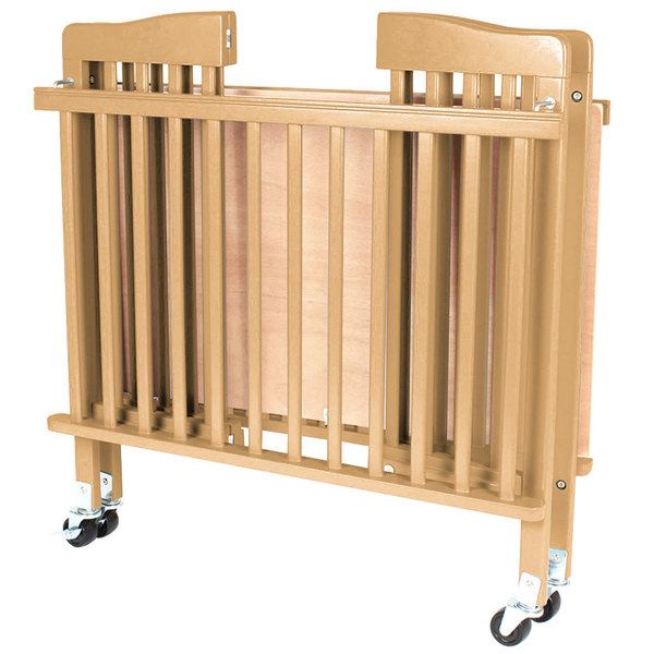 l a baby cw 883a the little wood crib 24 x 38 natural mini portable folding wood crib with. Black Bedroom Furniture Sets. Home Design Ideas
