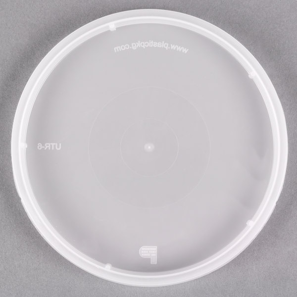 Tamper Resistant Translucent Lid for Round Deli Containers - 500/Case