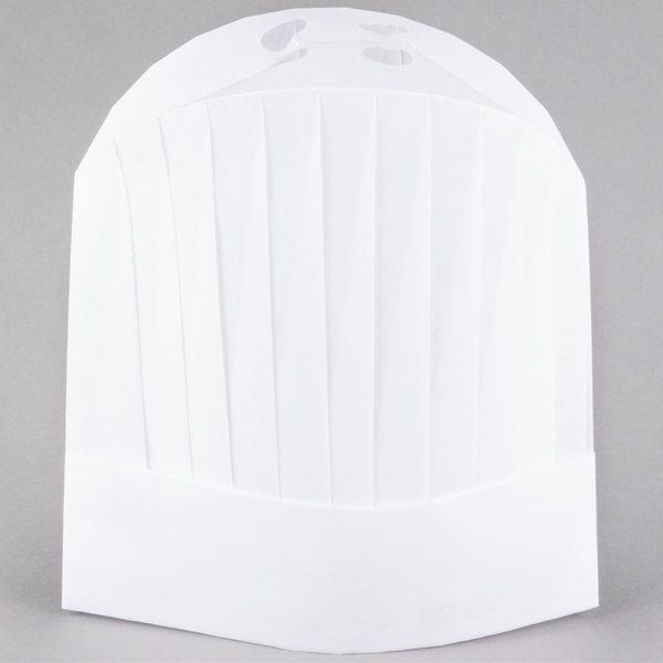 Chef Revival CHR12-V 12 inch Pleated Flair Style Viscose Chef Hat - 50/Case