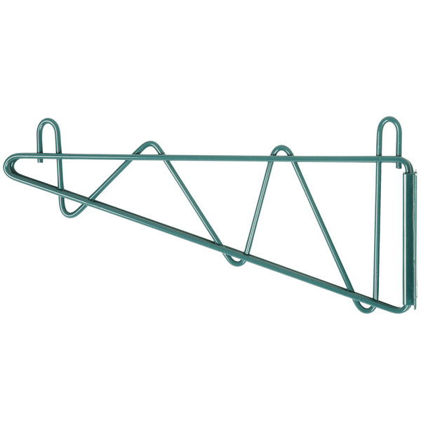 Regency 14 inch Deep Wall Mounting Bracket Set for Green Epoxy Wire Shelving - 2/Pack