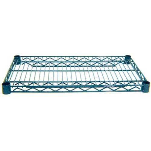 Advance Tabco EG-1424 14 inch x 24 inch NSF Green Epoxy Coated Wire Shelf