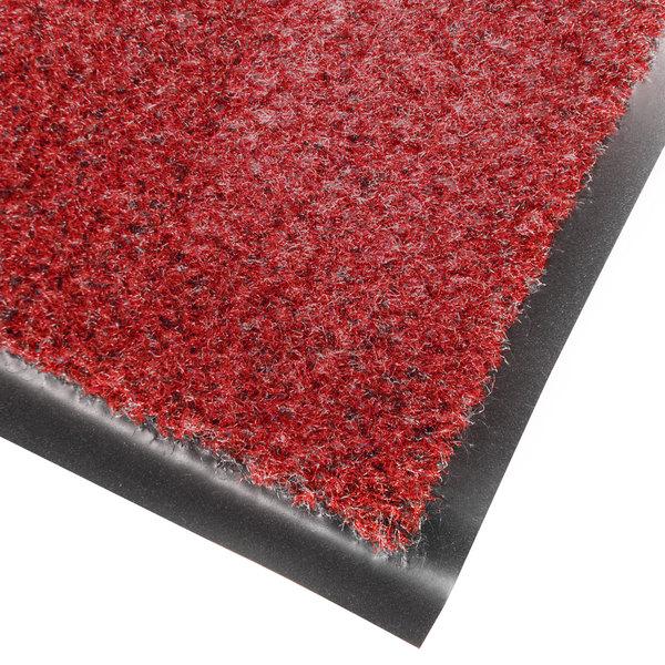 Cactus Mat 1437M-R31 Catalina Standard-Duty 3' x 10' Red Olefin Carpet Entrance Floor Mat - 5/16 inch Thick
