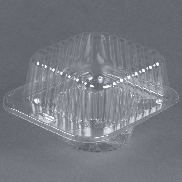 Par-Pak 2409 1 Compartment Clear Muffin Takeout Container - 100/Pack