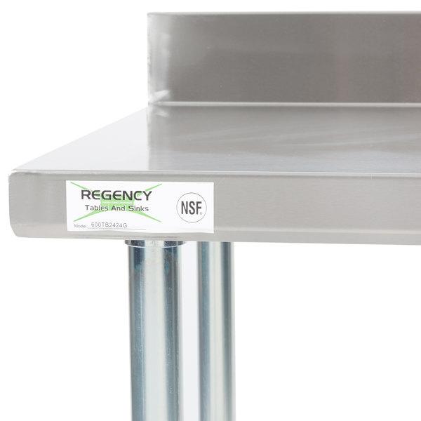 regency 24 x 24 18 gauge 304 stainless steel commercial. Black Bedroom Furniture Sets. Home Design Ideas