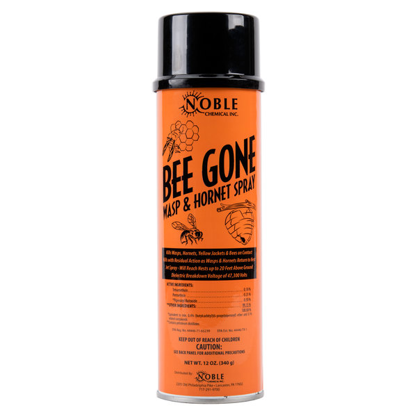 Noble Chemical 12 oz. Bee Gone Wasp & Hornet Spray - 12/Case