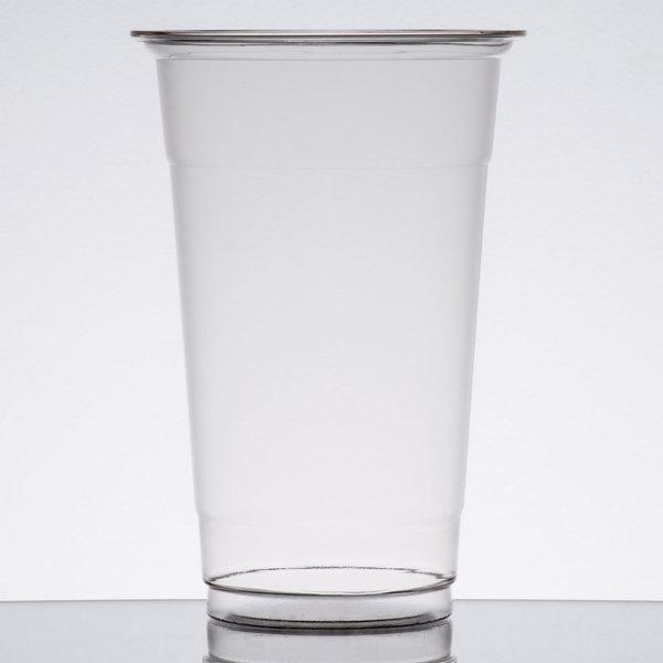 Choice 20 oz. Clear PET Plastic Cold Cup - 600 / Case