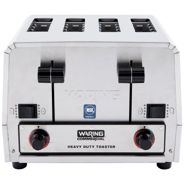 Waring WCT850RC Heavy Duty Switchable Bread and Bagel 4-Slice Commercial Toaster - 120V