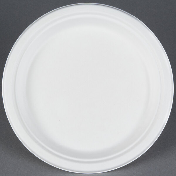 EcoChoice Biodegradable, Compostable Sugarcane / Bagasse 9 inch Plate - 125 / Pack