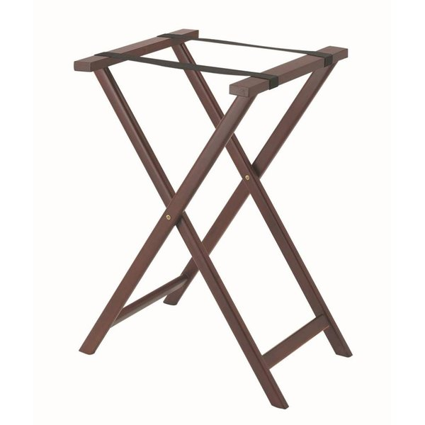 Aarco Mahogany Folding Wood Tray Stand - 31 inch