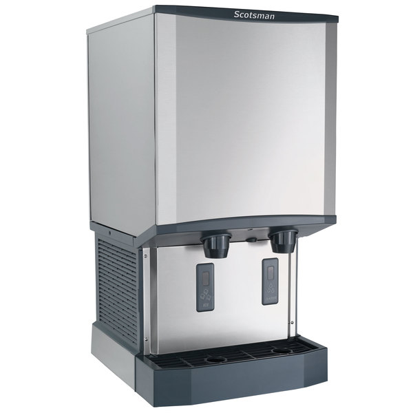 Countertop Ice Maker With Storage : ... Countertop Air Cooled Ice Machine and Dispenser - 40 lb. Bin Storage