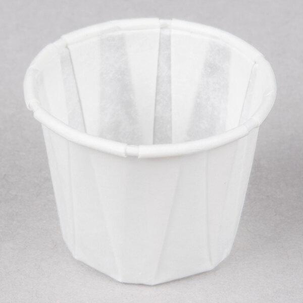 Genpak F075 .75 oz. Harvest Paper Souffle / Portion Cup - 250/Pack