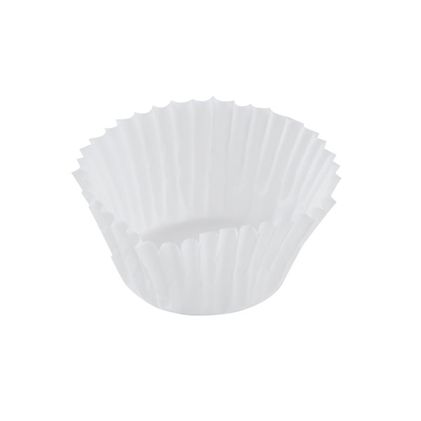Hoffmaster 610079 1 1/4 inch x 7/8 inch White Fluted Baking Cup - 20000/Case