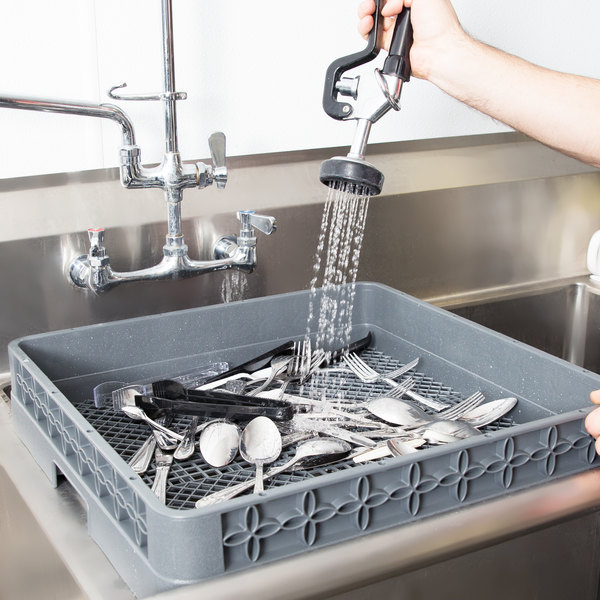 how to clean commercial dishwasher racks