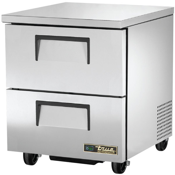True TUC-27D-2 27 inch Undercounter Refrigerator with Two Drawers