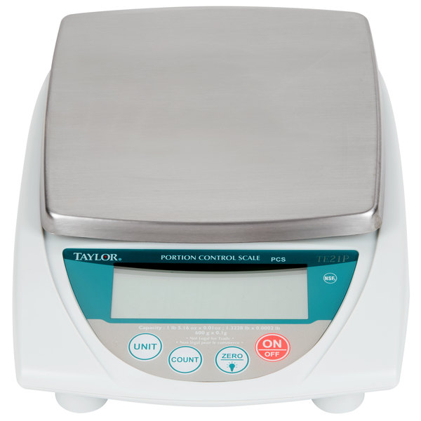Taylor TE21P 21 oz. Precision Digital Portion Control Scale