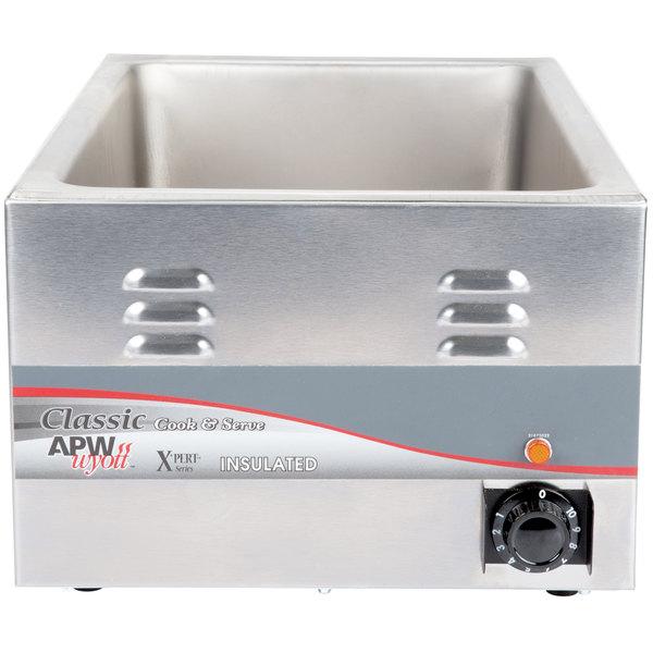 APW Wyott CW-2Ai 12 inch x 20 inch Countertop Food Cooker/Warmer 22 Qt. - 120V, 1500W