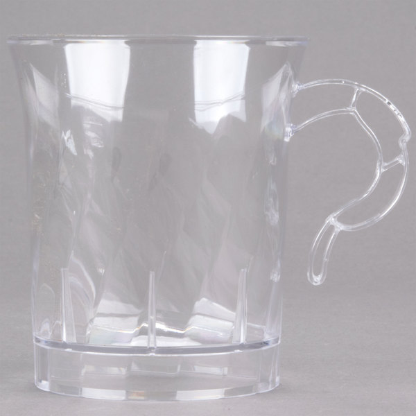 WNA Comet CWM8192C Classicware 8 oz. Clear Plastic Coffee Cup - 8/Pack