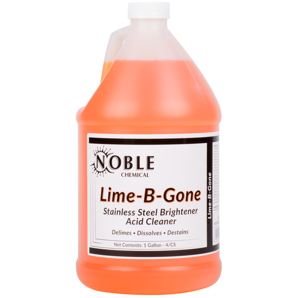 1 Gallon Noble Chemical Lime-B-Gone Delimer / Descaler - Ecolab® 12021 Alternative - 4/Case