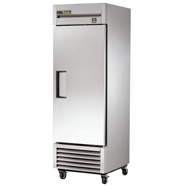 True TS-23 27 inch Stainless Steel One Section Solid Door Reach-In Refrigerator